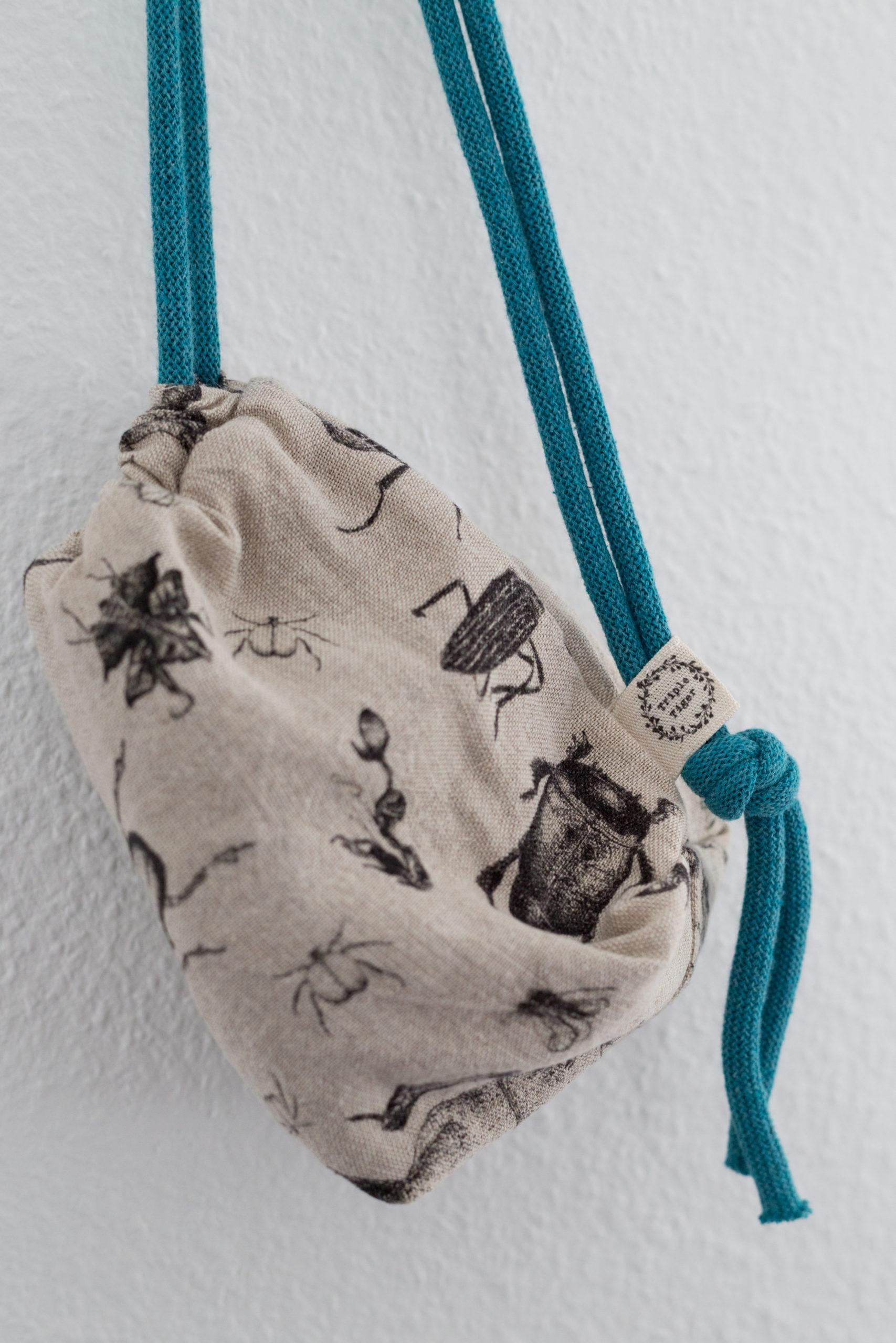 Pascale Dilger Design rucksack duffel bag UK linen handmade